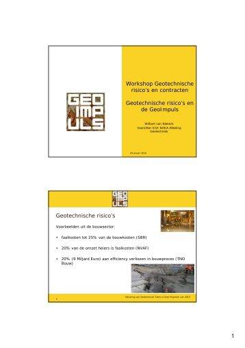 Risico's en Geo-Impuls - Geonet