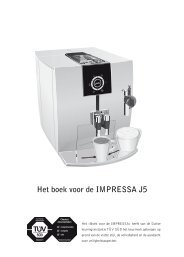 Het boek voor de IMPRESSA J5 - Van Hilst Koffie en Thee