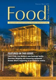 featured in this issue - NZIFST - The New Zealand Institute of Food ...
