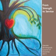From Strength to Service - Greater Minneapolis Council of Churches