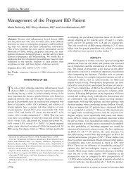 Management of the pregnant IBD patient - Department of Medicine