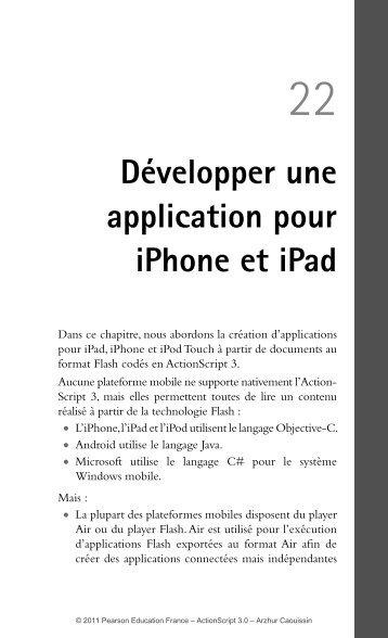 Développer une application pour iPhone et iPad - Pearson