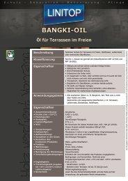 BANGKI-OIL Öl für Terrassen im Freien - LINITOP