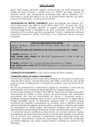 EDITAL DE LEILÃO Paulo Mário Lopes Machado ... - D.M System