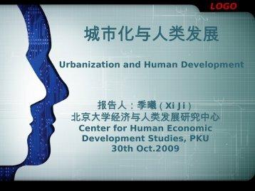 Urbanization and Human Development - Institut Veolia Environnement