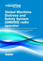 GMDSS Radio Operator Certificate of Competency - Maritime New ...