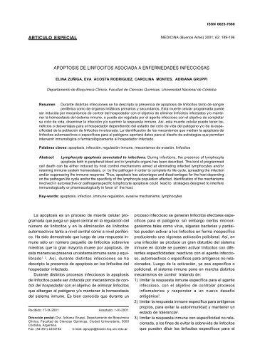 APOPTOSIS DE LINFOCITOS ASOCIADA A ENFERMEDADES ...