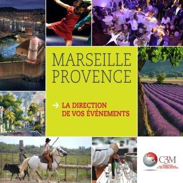 téléchargez notre plaquette « Événementiel Provence - C3M