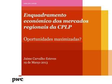 Enquadramento económico dos mercados regionais da CPLP - ELO