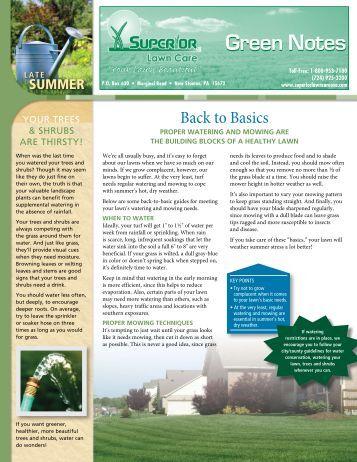 Basics - Superior Lawn Care