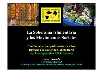 La Soberanía Alimentaria y los Movimientos Sociales - BVSDE