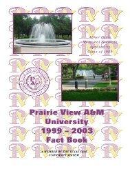 Prairie View A&M University 1999 – 2003 Fact Book