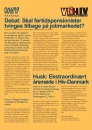 Debat: Skal førtidspensionister tvinges tilbage på ... - Hiv-Danmark