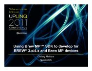 Migrating Apps from BREW to Brew MP - Uplinq