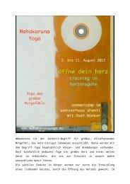 Mahakaruna ist der Sanskrit-Begriff für großes ... - Yoga Vidya