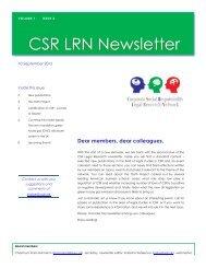 CSR LRN Newsletter