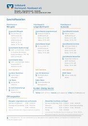Geschäftsbericht 2010 (Teil 3) - Volksbank Dortmund-Nordwest eG