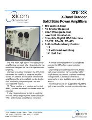 XTS-100X X-Band Outdoor Solid State Power Amplifiers