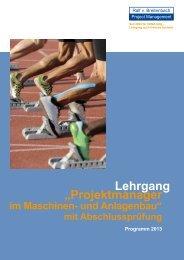 "Lehrgang ""Projektmanager - Internationales Projektmanagement"