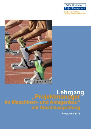 "Lehrgang ""Projektmanager - Internationales Projektmanagement"