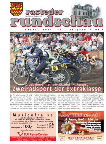 rasteder rundschau, Ausgabe August 2011