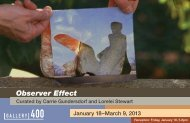 Observer Effect - Gallery 400 - University of Illinois at Chicago