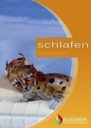 Schlafen (Matratzen, Kissen, Ober- und Unterbett, Lattenrost)