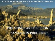 "the mono lake decision ""a work in progress"" - Division of Water Rights"