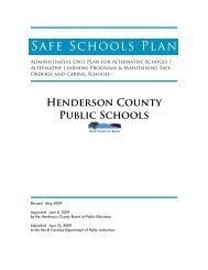 Safe Schools Plan 2009 Revision - Henderson County Public Schools