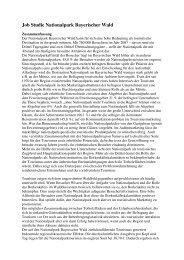 Zusammenfassung Job-Studie Nationalpark Bayerischer Wald