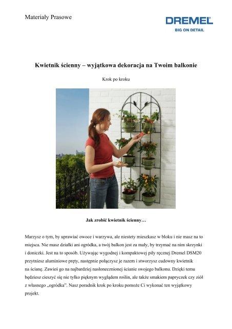 wyjÄ…tkowa dekoracja na Twoim balkonie - Dremel