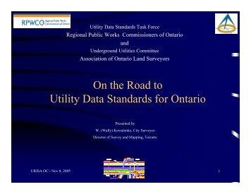 City of Toronto - URISA Ontario