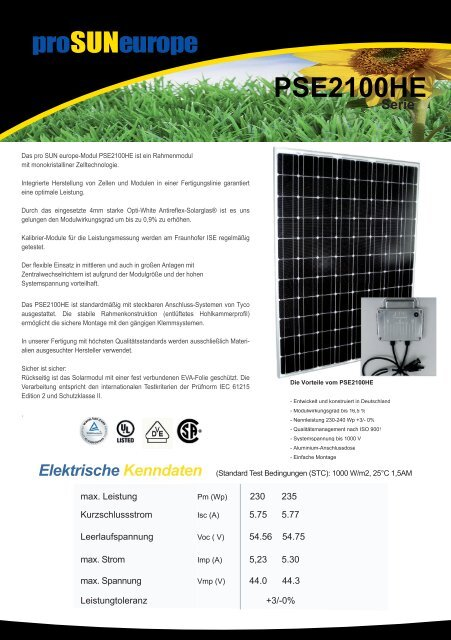 Datenblatt PSE2100HE Serie (pdf, 828 KB) - Innotec Energies