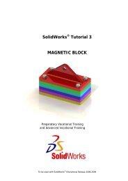 SolidWorks Tutorial 3 MAGNETIC BLOCK - Somers Public Schools