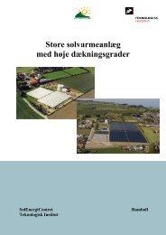 Store solvarmeanlæg med høje dækningsgrader