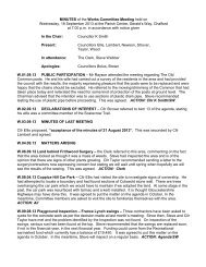 MINUTES of the Works Committee Meeting held on Wednesday, 18 ...