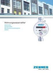 Gesamtkatalog Wohnungswasserzähler - Zenner