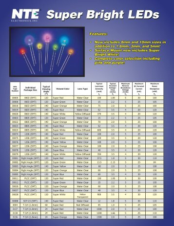 Super Bright LED Flyer (PDF) - NTE Electronics