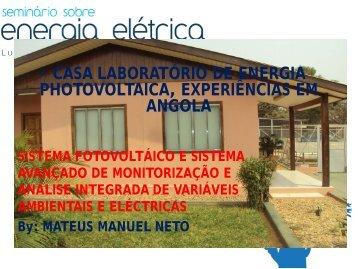 Casa Laboratório de Energia Fotovoltaica – Experiências em Angola
