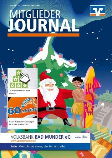 Mitglieder-Journal Nr. 2/ 2011 - Volksbank Bad Münder eG
