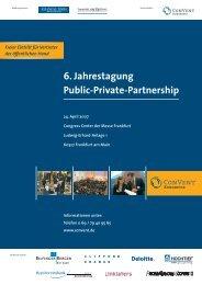 6. Jahrestagung Public-Private-Partnership - VBD ...