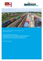 Sustainable shift of cargo transport into rail networks between Berlin ...