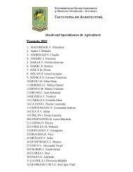 Absolvenţi Specializarea de Agricultură Promoţia 2003