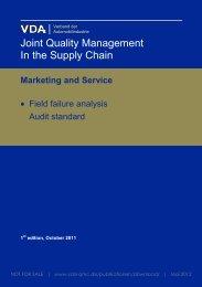 Marketing and Service - Vda Qmc