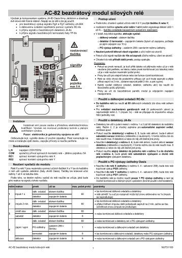 AC-82 bezdrátový modul silových relé - Logitron