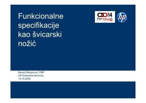 Funkcionalne Funkcionalne specifikacije p j kao Å¡vicarski ... - HrOUG