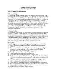 Internal Medicine Curriculum Endocrinology and Metabolism ...