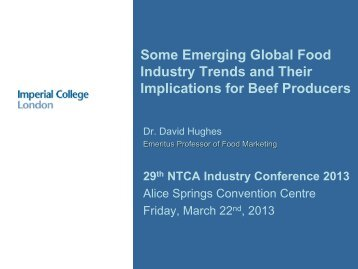 Some Emerging Global Food Industry Trends and Their Implications ...