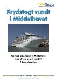 Tag med GIBA Travel til Middelhavet med afrejse den 5. maj 2011 9 ...