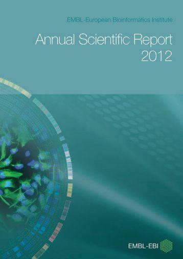 EMBL-EBI Annual Scientific Report 2012